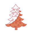 Christmas tree ball decorations festive party vector image