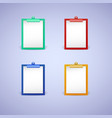 clipboard with white sheet paper vector image