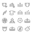 collection baby diaper icon vector image
