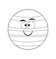 colorless funny cartoon neptune planet vect vector image vector image
