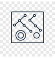 connection concept linear icon isolated on vector image vector image