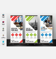 corporate roll up banner vector image
