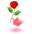 craft bird rose vector image