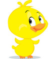 cute easter chicken character fflat design vector image vector image