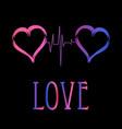 decorative hearts love symbols vector image