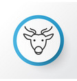deer icon symbol premium quality isolated moose vector image vector image