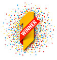 first winner number one with red ribbon and vector image vector image