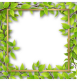 frame overgrown tree branches vector image vector image