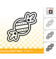gingerbread cookie sweet candy line icon vector image vector image