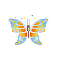 gorgeous butterfly with blue and orange wings vector image vector image