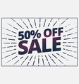 half price sale banner voucher card design vector image vector image