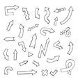 hand drawn arrow set vector image vector image