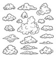 hand drawn clouds weather graphic symbols vector image vector image