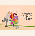happy fathers day design concept greeting card vector image