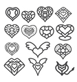 heart set 1 vector image vector image