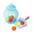 icon candy and bottle vector image vector image