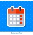 Icon of wall calendar vector image vector image