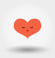 kawaii heart icon flat vector image