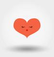 Kawaii heart icon flat