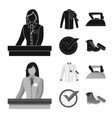 laundry and clean icon vector image vector image