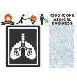 Lungs fluorography icon with 1300 medical business