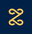 luxury z initial logo vector image