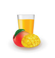 mango with mango slice vector image