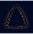 merry christmas creative tree made with golden vector image