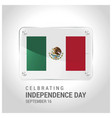 mexico flag door plat with lettering celebrating vector image