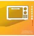 microwave kitchen equipment Flat modern web button vector image