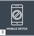 mobile detox thin line icon vector image