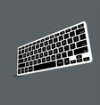 modern computer keyboard background vector image