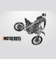 motocross drivers silhouette vector image