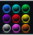 neon glowing sphere circles set vector image vector image