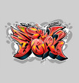 new york graffiti wild style lettering vector image vector image