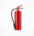 realistic detailed 3d red fire extinguisher vector image vector image