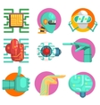 Robotic Technology Set vector image vector image