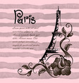 romantic eiffel tower in paris background vector image vector image