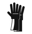 rubber gloves icon simple style vector image vector image