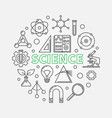 science modern round in thin vector image vector image