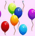 seamless pattern of colorful balloons vector image vector image