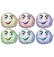 Six smiling heads vector image vector image