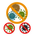 stop microbe microscopic viruses vector image