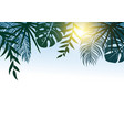 summer concept design of tropical leaves with vector image vector image