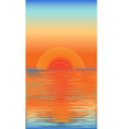 sunset in the sea vector image