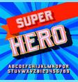 superhero 3d vintage letters vector image vector image