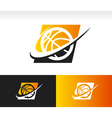 Swoosh Basketball Logo Icon vector image vector image