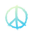 t-shirt design with peace sign on white vector image