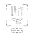Tool Smithy Four vector image vector image
