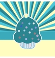 Vintage Cupcake Card Background vector image
